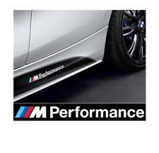 2x BMW M Performance Aufkleber weiß / hochwertige Oracal Folie!