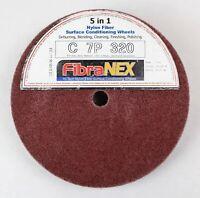 1x FibraNEX Polierscheibe für Eisen, Stahl, Holz 7P - 320 aus Nylonfaser - 25