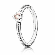Authentic PANDORA Ring One Love Pink Size (7) 190896SLP & Suede Pouch