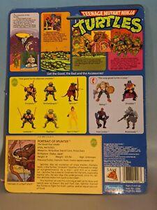 Splinter 1988 cardboard Teenage Mutant Ninja Turtles TMNT  10 back