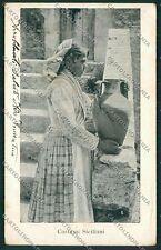 Palermo Costumi Siciliani cartolina QQ0878