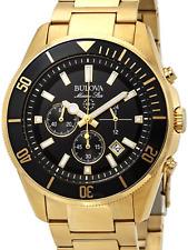 New Bulova Marine Star 98B250, Gold plated,43mm,Men's Watch.