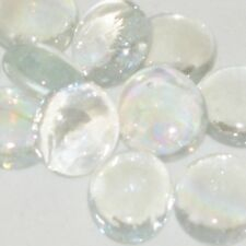 50 Clear Mini Glass Gems, Pebbles, Nuggets, Mosaic Tile, Vase Filler