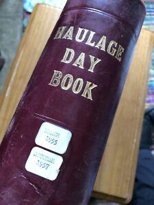Huge Ledger 1955/7 Haulage Day Book Stage Film Play Prop Vintage Transport Lorry