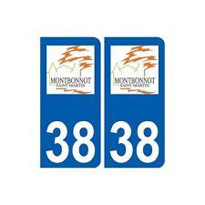 38 Montbonnot-Saint-Martin logo ville autocollant plaque stickers arrondis