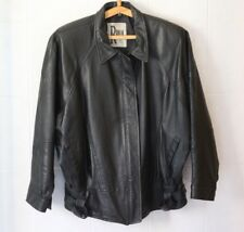 UNISEX BLACK Leather Jacket RONA Australian Made MEDIUM Size