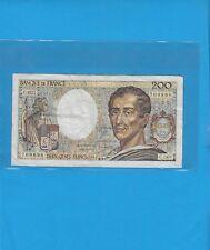 Billet  200 Francs MONTESQUIEU  Année 1981   Alphabet   C .001