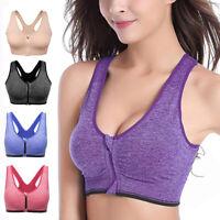 Damen Nahtlos Push Up Sport BH Bra Bustier Fitness Yoga drahtlose Gepolsterte