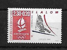 timbre neuf JO Albertville 92 le slalom 1991- YT 2676