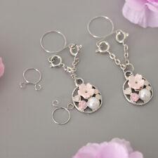 Dangle Charms Non-piercing Nipple Rings 2pcs Bohemian Imitation Pearl Flower