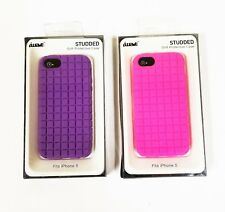 IWAVE STUDS 3D HOT PINK,PURPLE SILICONE SOFT PROTECTIVE iPHONE 5 S C CASE,COVER