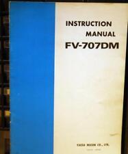 Yaesu FV-707DM manual de instrucciones