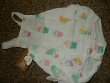 Nwt 18-24M Angel Dear Cupcakes Sprinkles Cotton Muslin Sunsuit Romper Outfit
