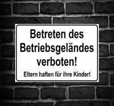 """Schild Hinweisschild Hinweis """"Betreten des Betriebsgeländes verboten!"""" Verbot"""