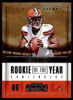 2017 PANINI CONTENDERS ROOKIE OF THE YEAR DESHONE KIZER RC BROWNS #RY-4 INSERT