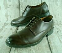 Clarks Mens Shoes Size 6.5H UK Brown Leather Lace Up Formal Waterproof Footwear