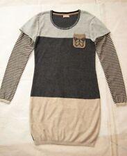 Next Cotton Blend Long Sleeve Knee Length Girls' Dresses (2-16 Years)