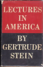 LECTURES IN AMERICA-GERTRUDE STEIN-FIRST EDITION; 2ND STATE-1935