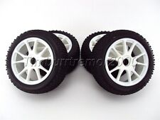 Kyosho DBX 2.0 VE Mounted White 10-Spoke Buggy Wheels & Tires (1:8/17mm) IFH002W