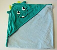 Carter's Just One You Baby Hooded Bath Towel Blue Monster