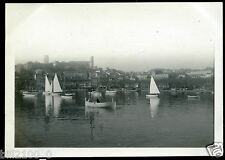 photo ancienne . Cannes .le port .  photo de 1918