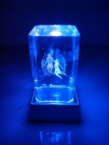 Zodiac Sign in French collections 3D Laser Etched Crystal Paperweight Home Decor