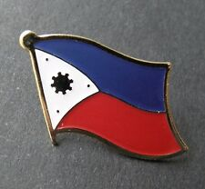 PHILIPPINES INTERNATIONAL COUNTRY FLAG LAPEL PIN BADGE 7/8 INCH