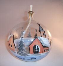 Öllampe Glas Weihnachten Deko mundgeblasen & handbemalt Lauscha