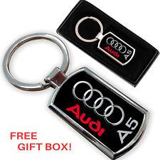 AUDI A5 CAR KEYRING KEY CHAIN RING FOB CHROME METAL NEW