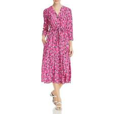 Nic + Zoe Womens Printed V-Neck Midi Shirtdress BHFO 6629