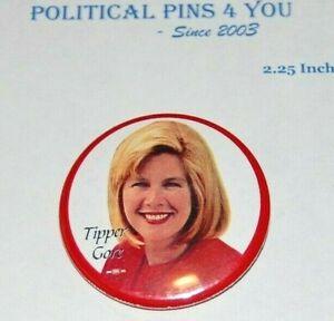 2000 TIPPER GORE AL campaign pin pinback button political presidential election