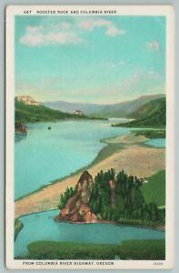 Oregon~Rooster Rock And Columbia River Highway~Vintage Postcard