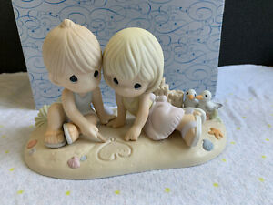 Precious Moments Figurine Washed Away In Your Love With Box 1 Of 3000 Made Rare