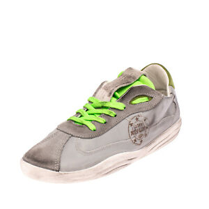 RRP €155 REPLIKA-03PY Sneakers EU 40 UK 6 US 7 Contrast Leather Made in Italy