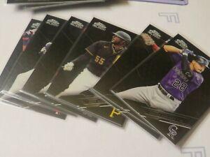 2020 TOPPS CHROME BLACK LOT OF 8 SP CARDS