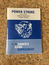 2008 POWER STROKE 6.0 TURBO DIESEL OWNERS MANUAL SUPPLEMENT NEW OEM printed 2004