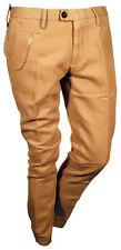Pantalone Casual Elegante con Catena MYTHS Invernale Beige Uomo 100% Cotone  46