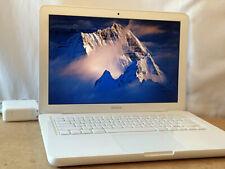 "Apple MacBook 13"" inch White Upgraded 8GB RAM + 500GB SSD Yosemite +Adobe Office"