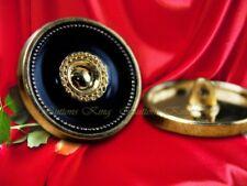 8 pcs. Golden metal buttons Black Oil Classic fashion Costume Craft size18mm.