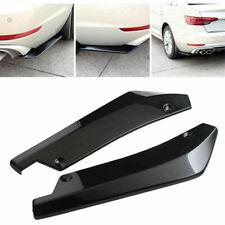 2x Universal Glossy Black Car Rear Bumper Lip Diffuser Splitter Canard Protector Fits Cayenne