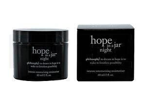 Philosophy Hope In A Jar Night Intensive Retexturizing Moisturizer 2 oz