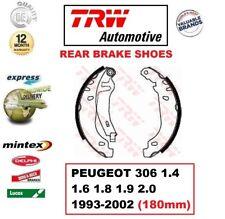 Para Peugeot 306 1.4 1.6 1.8 1.9 2.0 1993-2002 Eje Trasero Set Zapatas de Freno