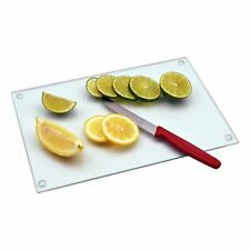 Glass Kitchen Chopping Cutting Utensil Board Worktop Saver - Clear - 300mmx200mm