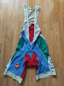 Castelli Italia National Champion Mens Cycling Bib Shorts Skoda Size: M