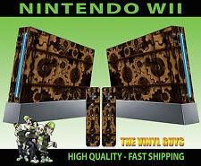 NINTENDO Wii Adesivo Ingranaggi Steampunk Vittoriano COGS VAPORE SKIN e 2 SKIN PER PAD