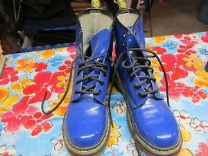 Dr. Martens Royal Blue Patent Boot   Women's Size 8