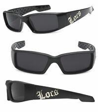 Locs Men Cholo Sunglasses - Shiny  Black Frame LC66