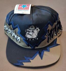 NEW Vintage Georgetown Hoyas Jagged Edge Snapback hat shockwave  flame cap