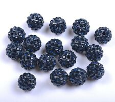 10pcs Montana Czech Crystal Rhinestones Pave Clay Round Ball Spacer Beads 8MM
