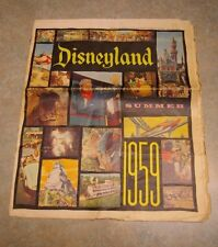 RARE 1959 DISNEYLAND 'SUMMER' FULL COLOR 22 PAGE ADVERTISING NEWSPAPER MAGAZINE
